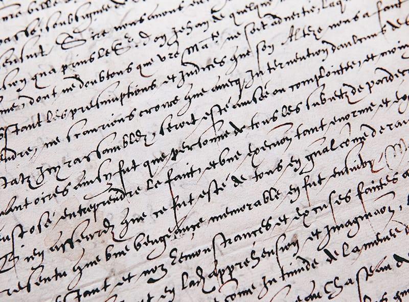 A letter written in cursive.