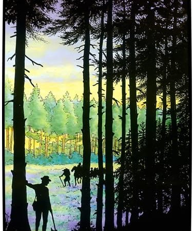 Guides in the forests of Jura (Switzerland) met Huguenot fugitives to lead them to safety.