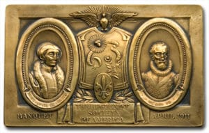 bronze given to attendees of the 1911 annual banquet at Delmonico's